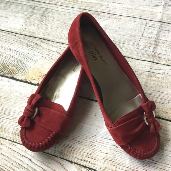 79a0bd7da97 Anne Klein Shoes -  Anne Klein  iFlex Red Suede Loafers